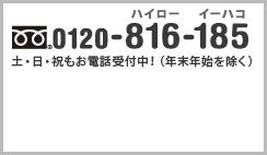 トランクルームのスペースプラス Space Plusへのお問い合わせはフリーダイヤル0120-816-185 土・日・祝もお電話受付中!(年末年始を除く)